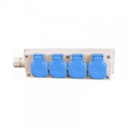 Contactdoos met 4 eenheden, 16 Ampere