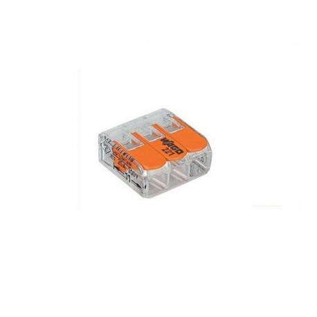 Wago transparante verbindingsklem 2-voudig met hefboombediening (tot en met 4mm2)