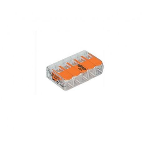 Wago transparante verbindingsklem 5-voudig met hefboombediening (tot en met 4mm2)