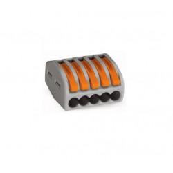 Wago 222-415 verbindingsklem 5 draads klem met hefboombediening t/m 4mm2 ( t/m 99 stuks )
