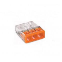 Wago 2273-203 Lasklem 3-voudig transparant oranje - per 100 stuks