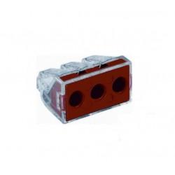 Wago 773-173 Lasklem 3-voudig transparant rood - per 50 stuks