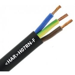 3 x 1 mm2 Neopreenkabel (HAR) (t/m 99 meter)